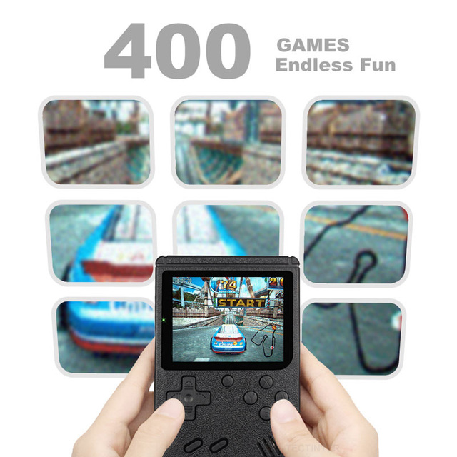 Retro Portable Mini Handheld Video Game Console 8-Bit 3.0 Inch Color LCD Kids Color Game Player Built-in 400 games 3