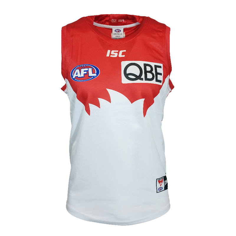 AFL SYDNEY SWANS GUERNSEY 2019 MEN'S HOME JERSEY size S-3XL Print custom names and numbers Top quality Free shipping(China)