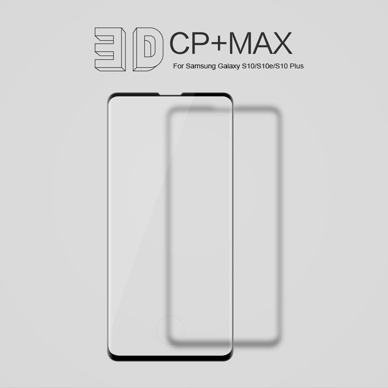 Per Samsung Galaxy S10/S10e/S10 +/S9/S8 +/S20 di Vetro NILLKIN Incredibile 3D CP + MAX Copertura Completa 9H Temperato Protezione Dello Schermo di Vetrotempered glass screen protectorglass screen protectorscreen protector -