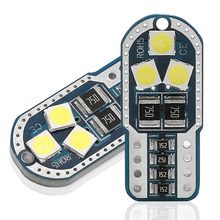 Novo 20 pçs t10 w5w 194 168 carro conduziu luzes de leitura apuramento lâmpada da cauda da porta automóvel 3030 6smd branco vermelho amarelo gelo azul dc12v