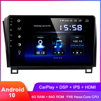 10.2 IPS Display Android 10 Car Stereo GPS For Tundra 2007+ Sequoia 2008+ Carplay In Dash Auto Radio FM WiFi DSP Audio Video