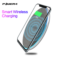Power4 10W/7.5W Portable Qi Wireless Charging Pad For iPhone 8 Chargers With Led Light Samsung Xiaomi mi