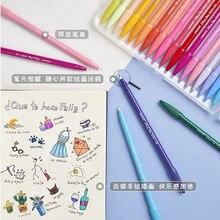 Monami Color Gel Pen 12/24/36/48 Colors Wholesale Fiber Tip Korean Stationery Art Markers Diary DIY Supply Gift Writing Drawing