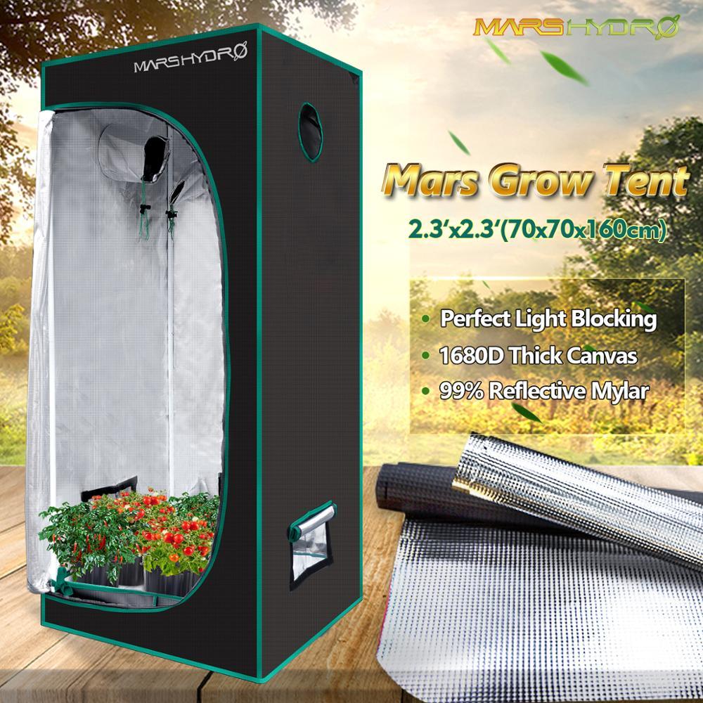 Tienda de cultivo Marshydro de 70x70x160cm 1680D, planta hidropónica greenhuse de Interior de 2'3 ''x 2'3'' x 5'3 '', tienda grande para sala con Caja de cultivo