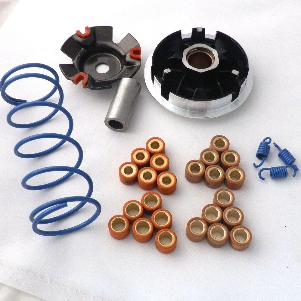 Характеристики гоночный вариатор 18x14 мм фотометрический крутящий момент муфты для GY6 125cc 150cc 152QMI 157QMJ Запчасти для скутера мопеда