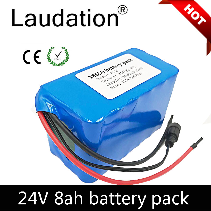 laudation <font><b>24V</b></font> <font><b>Battery</b></font> <font><b>24V</b></font> <font><b>8ah</b></font> <font><b>Battery</b></font> Pack 6S 3P 25.2V For GPS Navigator/Camera/Golf Car/<font><b>Electric</b></font> <font><b>Bike</b></font>/LED/Light image