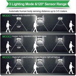 Image 4 - Waterdichte 128/268 Led Solar Lamp Motion Sensor Zonne energie Lichten Outdoor Security Verlichting Voor Veranda/Tuin/Straat/wandlamp
