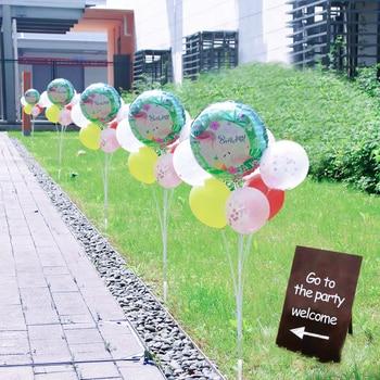 Decoración de jardín decoraciones para fiesta de cumpleaños chico soporte de globos soporte de columna insertar en la tierra al aire libre boda 120cm balon stand