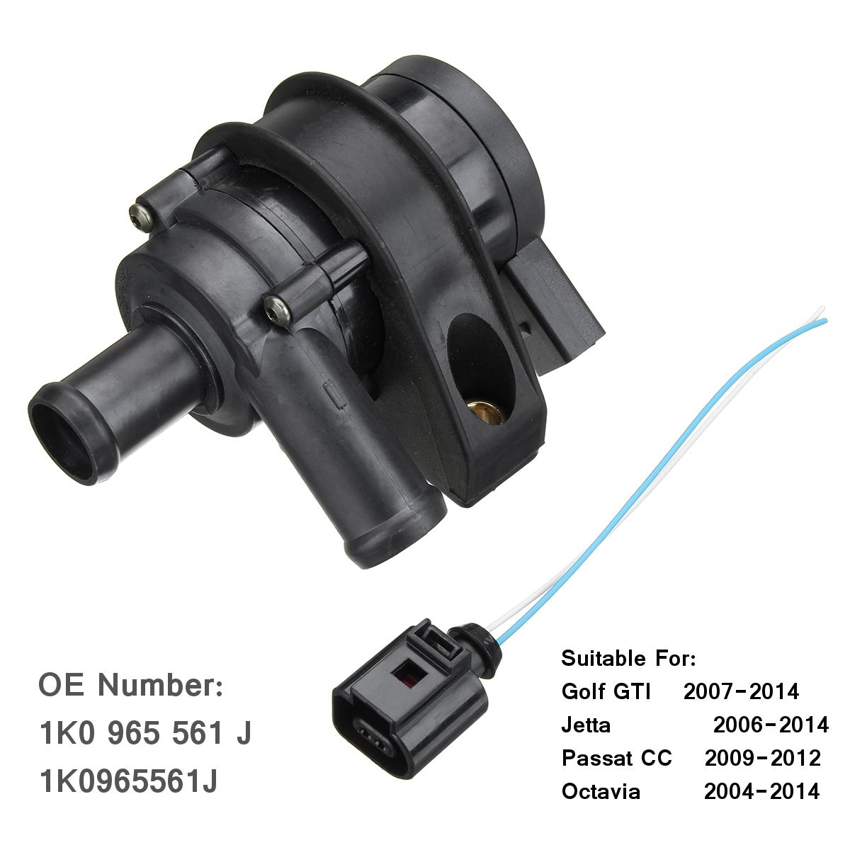 Car Engine Cooling Water Pump Connect Plug Cable 1K0965561J 1K0965561G For VW Jetta Golf GTI Passat CC Octavia 1.8 T 2.0 T 12 V