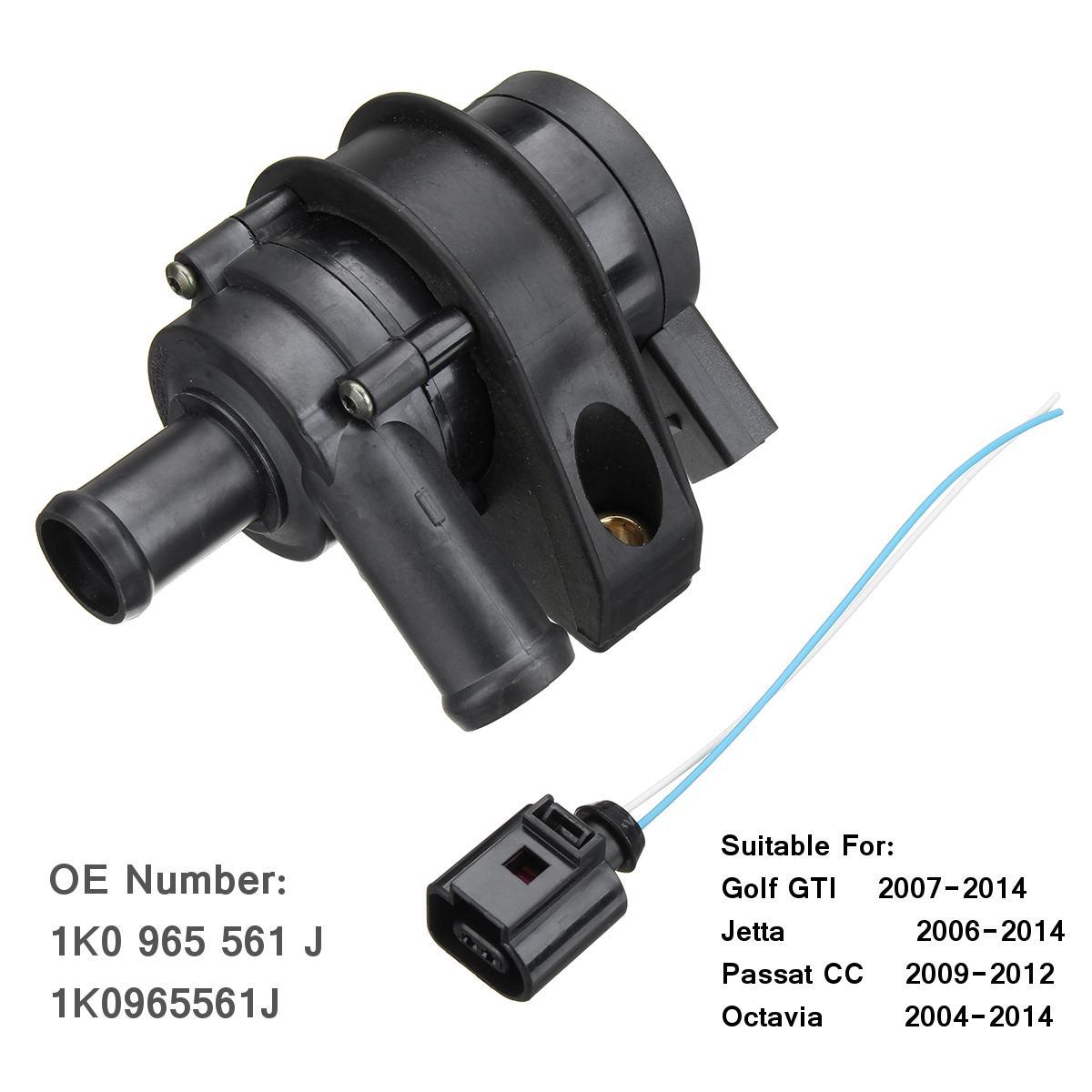 La pompe à eau de refroidissement de moteur de voiture relient le câble de prise 1K0965561G pour VW Jetta Golf GTI Passat CC Octavia 1.8 T 2.0 T 12 V