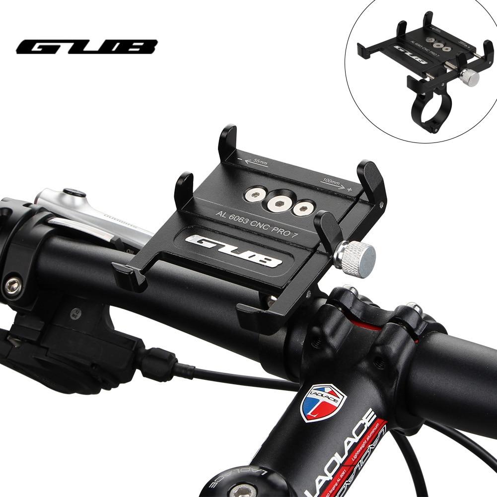 GUB PRO7 мобильный телефон держатель для руля велосипеда из алюминиевого сплава для Iphone Кронштейн двигателя держатель для телефона на велосип...