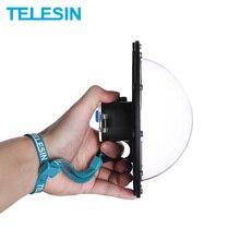 """TELESIN 6 """"Dome Port 30M GoPro Hero 5 için su geçirmez kılıf oturum Hero 4 oturumu Lens kubbe kapağı konut aksesuarları"""