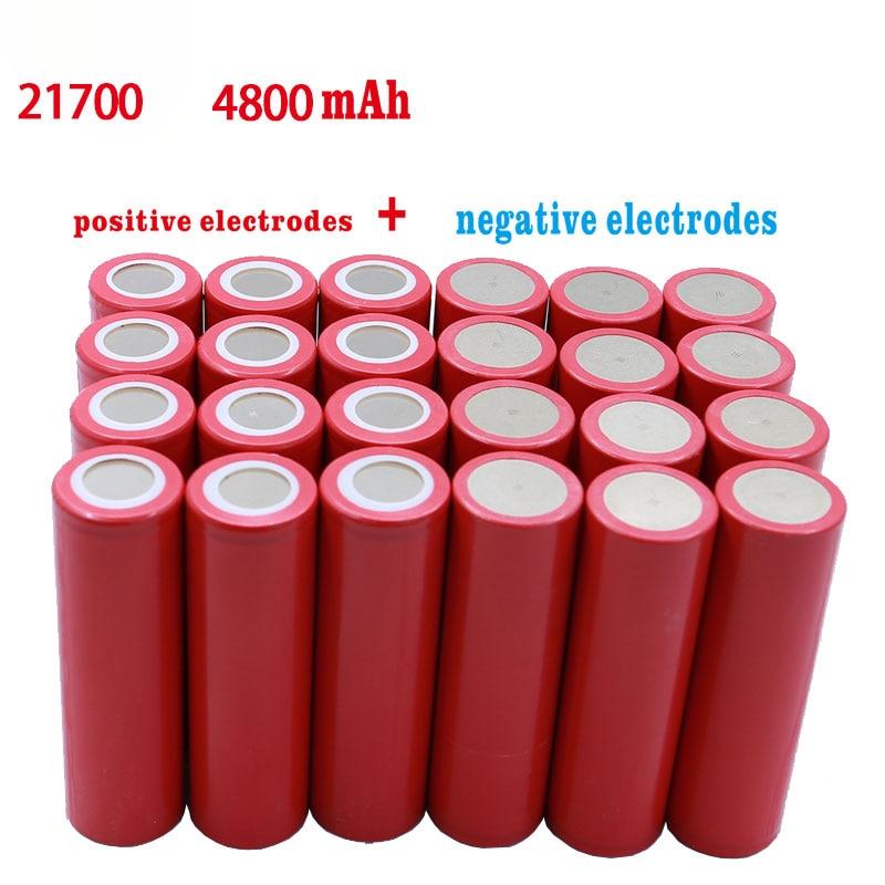 Baterias recarregáveis 21700 v do íon 4800 v li da bateria 3.7 mah 3.7v nova de 5c para carros elétricos