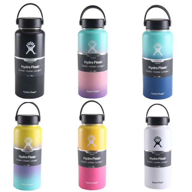 Wide Mouth Hydro Flask Water Bottle with Upper Handle