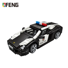 LOZ Mini Blocks Technic City Police Model Car Building Bricks Vehicle Racing Assembly Toy for Kids DIY Educational 1113