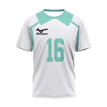 3D Printed T-Shirt Japanese Animation Volleyball Junior No. 16 Ball Suit Summer Men's Chs Short Sleeve Big O Collar Men's Shirt