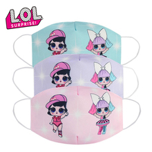 Original 2020 LOL Surprise Dolls Kids Spring and Summer Washable Cotton Masks Dustproof Breathable Anti-haze Mask Gifts