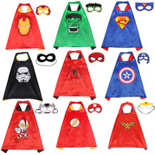 Marvel Avengers Toys Cosplay Cloak Cape Shawl The Flash Captain America Thor Hulk Halloween Cosplay Toy + Eye Mask(China)