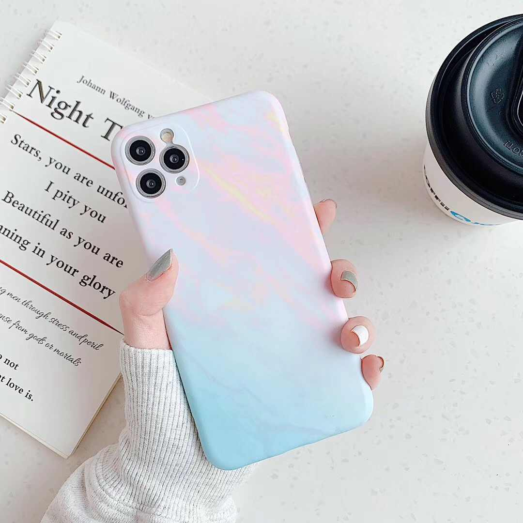 Gimfun Goudfolie Geometrictexture Marmer Telefoon Case Voor Iphone 11 Pro Max 7 8 Plus Xr Xs Max Matte Soft imd Silicone Cover