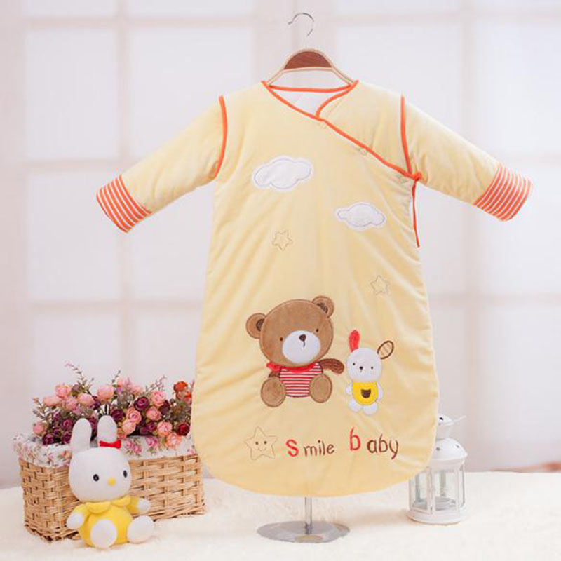 Long Sleeve Sleeping Bag For Baby Thick And Warm Muslin Sleep Sack Animal  Pattern Cotton Winter Bag For Baby