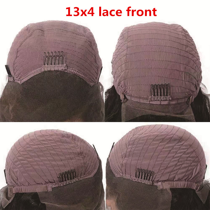 Image 2 - Kinky Straight Lace Front Human Hair Wigs Pre Plucked For Black Women 13x4  Remy Brazilian Yaki Lace Front Human Hair Wigs Favor-in Human Hair Lace Wigs from Hair Extensions & Wigs