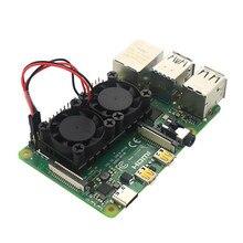 Dual Fan CPU PCB Lüfter Kühler Kühlkörper Modul Für Raspberry Pi 4