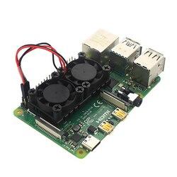 Dual Fan CPU PCB Cooling Fan Cooler Heat Sink Module For Raspberry Pi 4