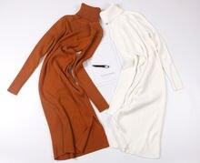 Женское платье свитер hlbcbg длинное плотное теплое до середины