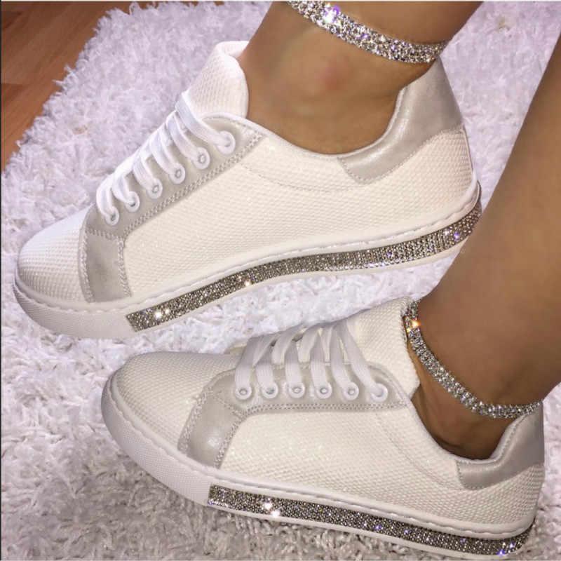 SWONCO popüler taklidi düz beyaz ayakkabı kadın platformu ayakkabı beyaz 2020 bahar kadın rahat ayakkabılar ayakkabı pembe