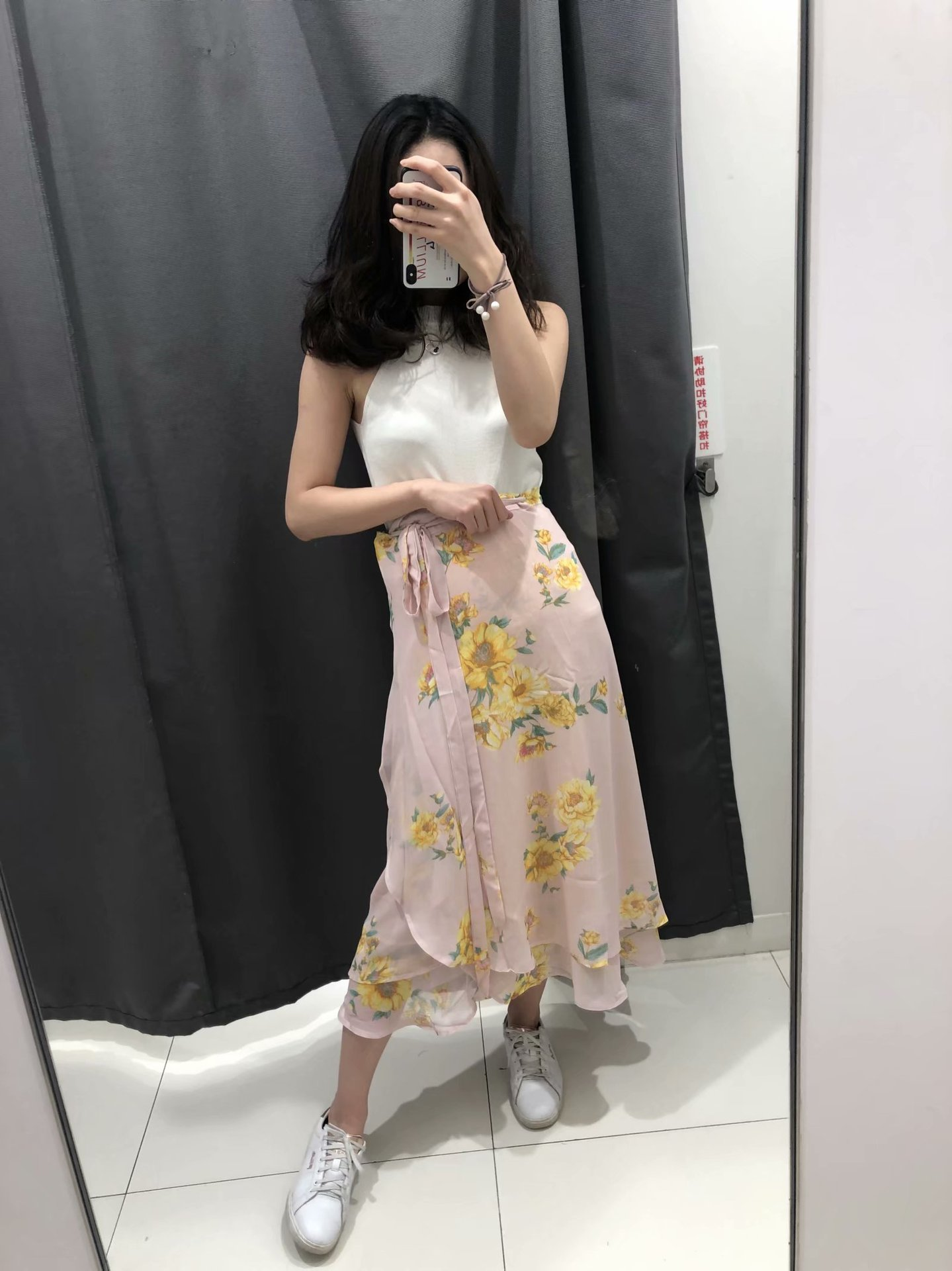 Europe And America WOMEN'S Dress 2019 Spring New Style Western Style Flower Printed Wrap Dress High Waist Skirt WOMEN'S Dress