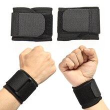 Suporte de pulso protetor ajustável levantamento de peso elástico macio pressurizado pulseira ótimo para tênis de vôlei esportes duráveis