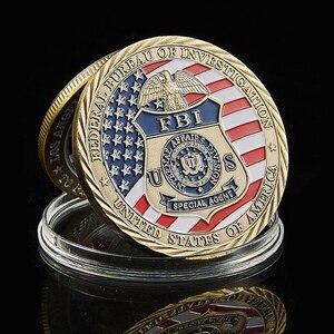 США специальный агент ФБР Hederal Бюро исследований St Michael US Challenge Coin коллекционная