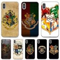 Voor Samsung Galaxy A12 A31 A41 A51 A71 A20e A21s M30 A10 A30 A40 A50 A60 A70 Mobiele Telefoon Case hogwarts-Badges-Logo