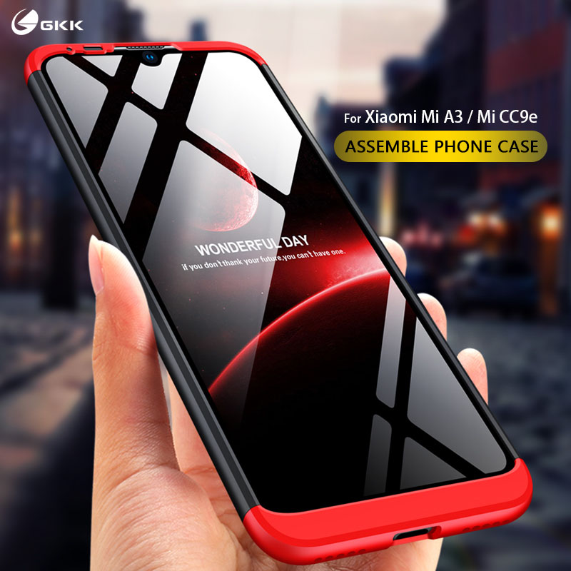 GKK Original Case For Xiaomi Mi A3 Case 3 In 1 Full Protection Anti-shock Matte Hard PC Cover For Xiaomi Mi CC9e Case Fundas