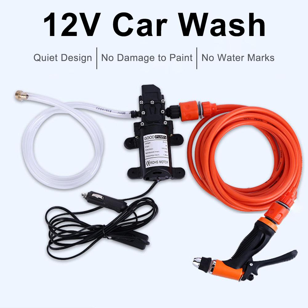 Car Washer 12V Gun Pump 12V High Pressure Cleaner Care Simple Washing Machine Electric Cleaning Auto Wash Maintenance Tool