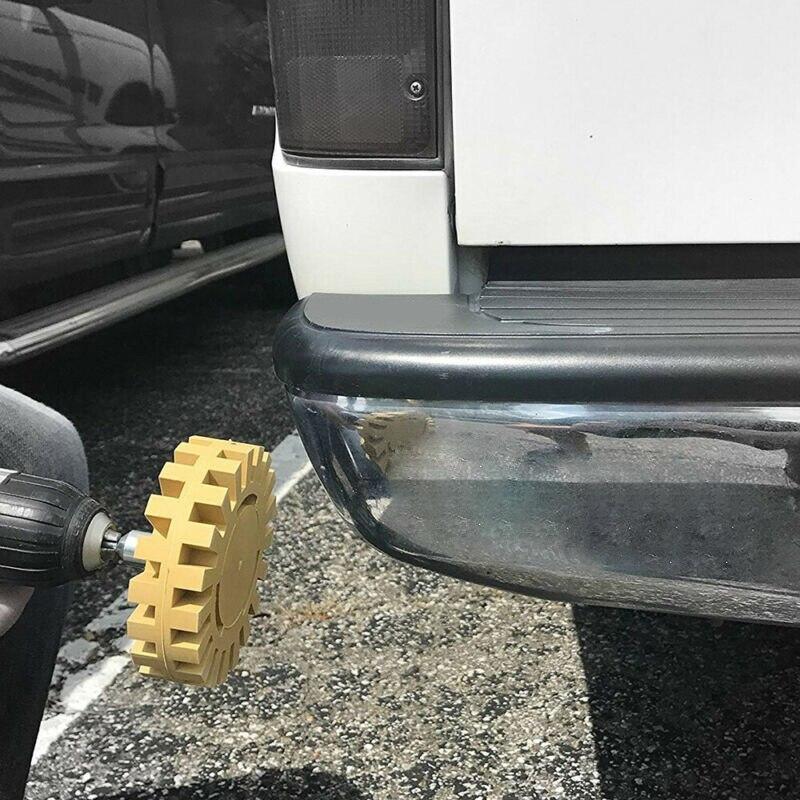 4 Inches Polishing Car Sticker Remover Pinstripe Rubber Disk Eraser Wheel Pad