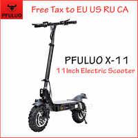2020 nuevo PFULUO X-11 Scooter eléctrico inteligente 1000W Motor 11 pulgadas 2 ruedas tablero hoverboard skateboard 50 km/h Velocidad máxima todoterreno