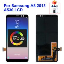 Super AMOLED do Samsung Galaxy A8 2018 LCD A530 ekran dotykowy Digitizer zgromadzenie A530F A530N ekran wyświetlacza części zamienne tanie tanio MSMADE NONE CN (pochodzenie) Pojemnościowy ekran 3 For Samsung Galaxy A8 2018 A530 A530F LCD i ekran dotykowy Digitizer