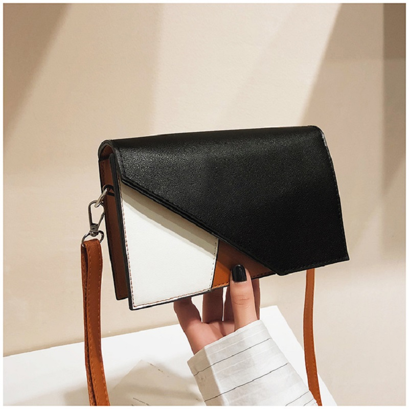 Bag Women's New Korean Version Of The Small Fragrance Wind Block Hit Color Small Square Bag Ins Wind Trend Shoulder Slung