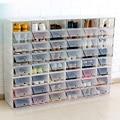 Transparent kunststoff schuhkarton dick clamshell-design schuh lagerung artefakt lagerung organizer haushalts lagerung werkzeuge LAD-verkauf