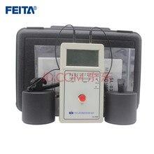 Feita esd elétrica lcd digital display resistência tester 030b medidor de resistência superfície com duplo martelo