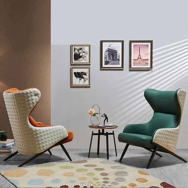 Leather Art Designer High Back Lounge Chair 2