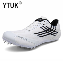 YTUK Men Track Field Shoes Women Spikes Sneakers Athlete Running Training Shoes light Match Shoes Sneakers Unisex shoes 45