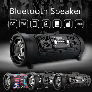 Wireless Bluetooth Speaker Outdoor Portable With Shoulder Belt Stereo Soundbar 1500mAh Battery Music Radio FM / USB / TF Speaker