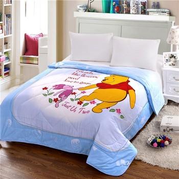 Disney Kids Summer Quilt 200x230CM Winnie Bear Pet Good Friends Cute Air Condition Blankets Comforter for Children Gift Sleeping