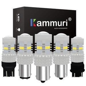 KAMMURI без ошибок P21W 1156 BA15S BAU15S W21W W21/5 W PY21W 1157 P21/5 W 3157 P27/7 W светодиодный сигнал заднего хода DRL стоп-сигнал