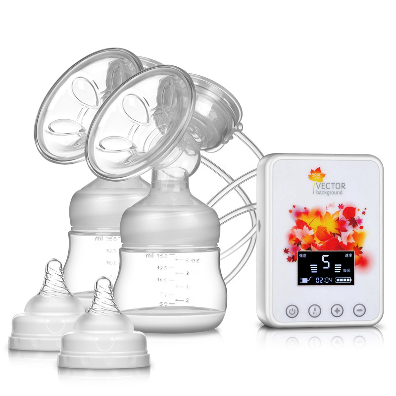 Double Electric Breast Pumps USB Charge Electrical Breast Pump Powerful Nipple Suction With Baby Milk Bottle BPA FREE