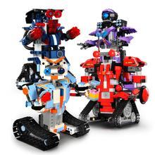 RC Robot 4CH Remote Control DIY Building Blocks Robert Robot Toys Technice Education Model Bricks Compatible Model for Kids франческо петрарка francesco petrarca t 1