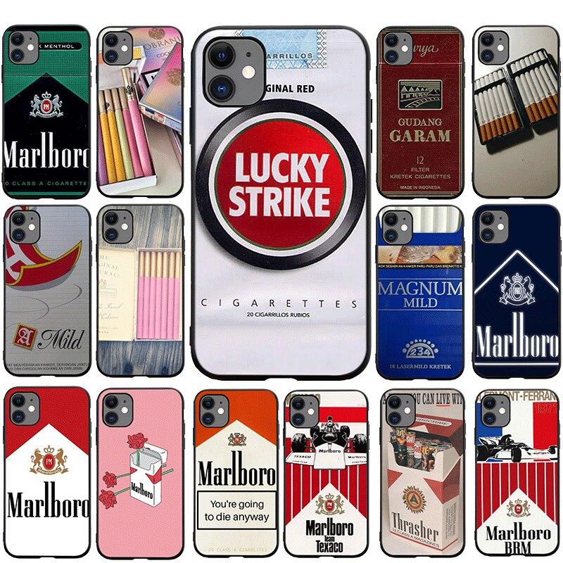 Custodia per cellulare TPU per iPhone 5 5s 6 6s 7 8 Plus X XS XR XS Max 11 Pro Max SE 2020 12 mini 12 Pro Max Cover sigaretta carina