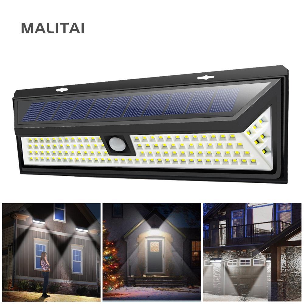 Solar LED Wall Light PIR Motion Sensor Outdoor Garden Yard Security Lamp NIGH